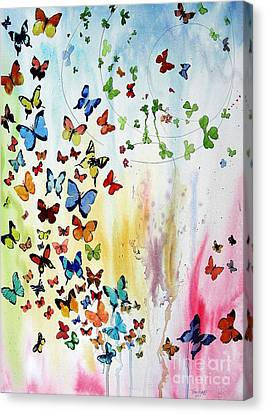Butterflies Canvas Print by Tom Riggs