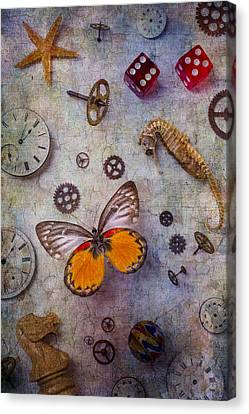 Butterfly And Seahorse Canvas Print by Garry Gay