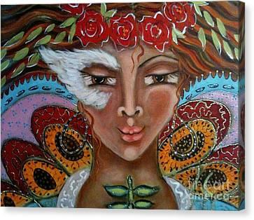Butterfly Angel Canvas Print by Maya Telford