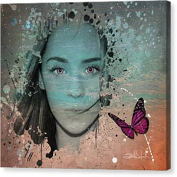 Butterfly Eyes Canvas Print by Isabel Salvador