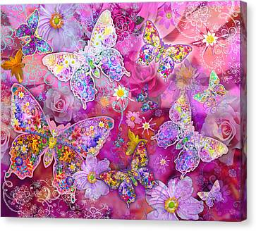 Butterfly Flower Land Canvas Print by Alixandra Mullins