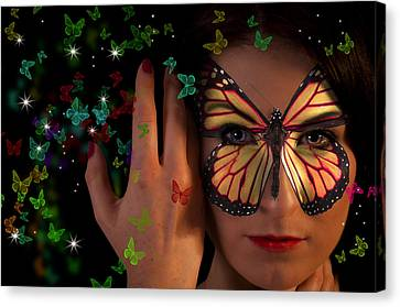 Butterfly Girl Canvas Print by Nathan Wright
