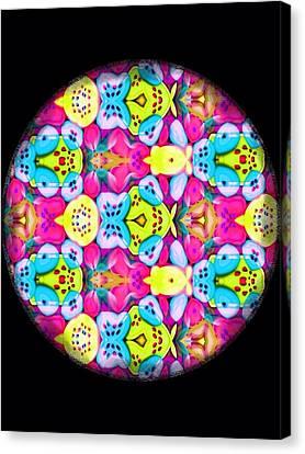 Butterfly Mandala Canvas Print by Karen Buford
