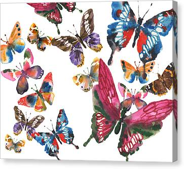 Butterfly Painting Canvas Print by Alison Fennell