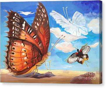 Butterfly Paysage 2 Canvas Print by Art Ina Pavelescu