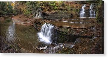 Buttermilk Creek Falls Canvas Print by Mark Papke