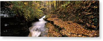 Buttermilk Creek, Ithaca, New York Canvas Print by Panoramic Images
