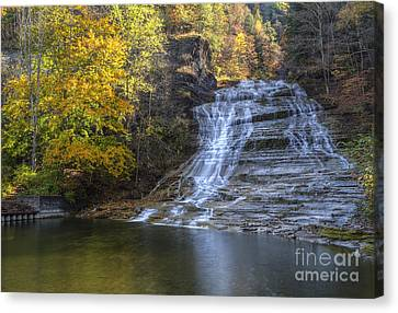 Buttermilk Falls Autumn Canvas Print by Colin D Young