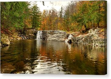 Buttermilk Falls Canvas Print by Dennis Clark