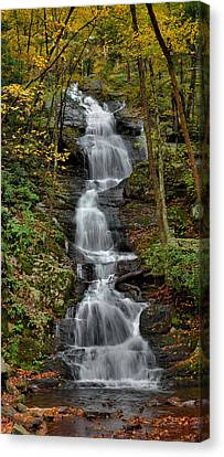 Buttermilk Falls In Autumn Canvas Print by Stephen  Vecchiotti