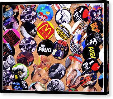 Button Crazy Canvas Print by Kip Krause