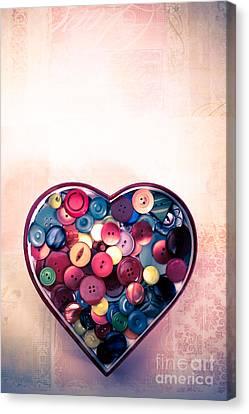 Button Love Canvas Print by Jan Bickerton
