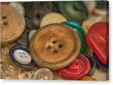 Buttons Canvas Print by Brenda Bryant
