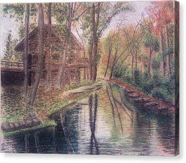Butts Mill Farm Canvas Print by Andrew Pierce