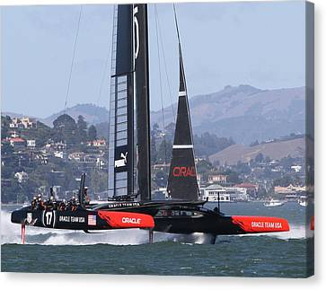 Oracle America's Cup 34 Canvas Print by Steven Lapkin