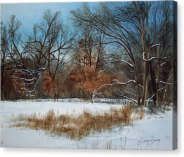 By Rattlesnake Creek Canvas Print by Denny Dowdy