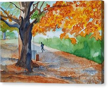 By The Rideau Canal Canvas Print by Lise PICHE