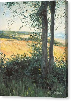 By The Sea Normandy  Canvas Print by Gustave Caillebotte