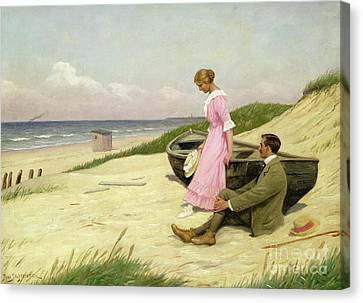 By The Sea Canvas Print by Povl Steffensen