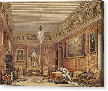 Byrons Room In Palazzo Mocenigo, Venice Canvas Print by English School