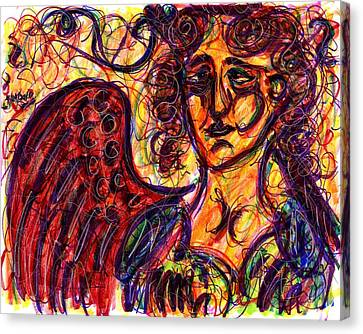 Byzantine Angel Canvas Print by Rachel Scott