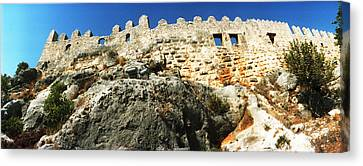 Byzantine Castle Of Kalekoy, Antalya Canvas Print by Panoramic Images