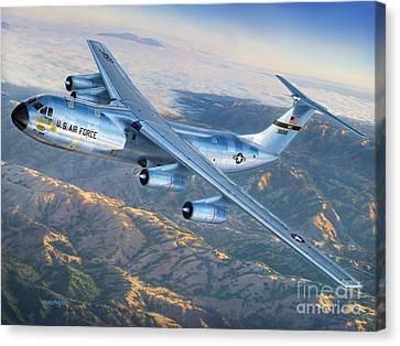 C-141 Starlifter The Golden Bear Canvas Print by Stu Shepherd