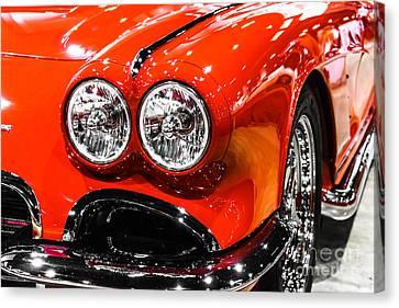 C1 Red Chevrolet Corvette Picture Canvas Print by Paul Velgos