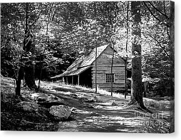 Cabin In The Woods Canvas Print by Paul W Faust -  Impressions of Light