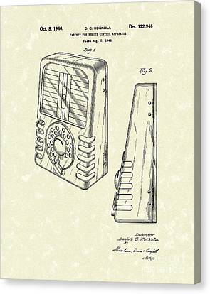Cabinet 1940 Patent Art Canvas Print by Prior Art Design