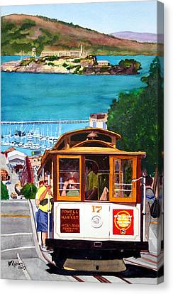 Cable Car No. 17 Canvas Print by Mike Robles