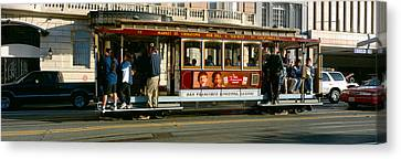 Cable Car, Nob Hill, San Francisco Canvas Print by Panoramic Images