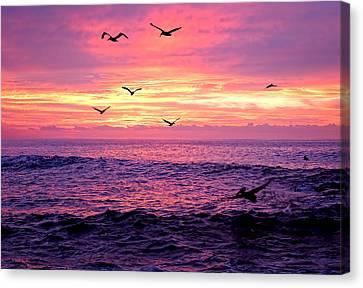 Cabo San Lucas Sunrise Canvas Print by Marcia Colelli