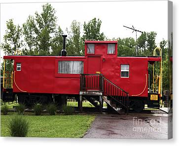 Caboose Canvas Print by John Rizzuto