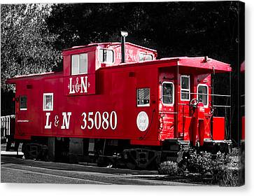 Caboose Canvas Print by Shelby  Young