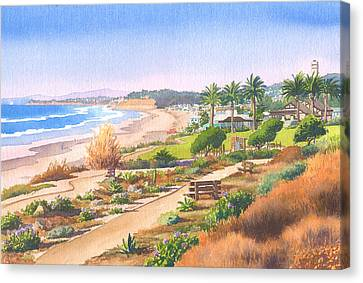 Cactus Garden At Powerhouse Beach Canvas Print by Mary Helmreich