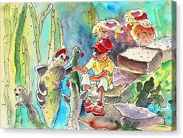 Cactus Garden In Lanzarote 01 Canvas Print by Miki De Goodaboom