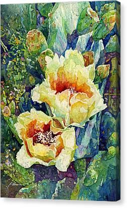 Cactus Splendor I Canvas Print by Hailey E Herrera