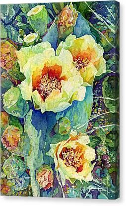Cactus Splendor II Canvas Print by Hailey E Herrera