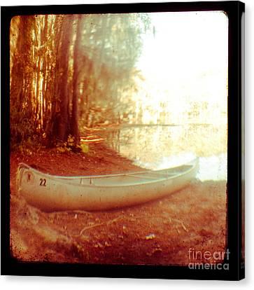 Caddo Canoe Canvas Print by Sonja Quintero
