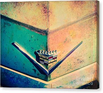 Cadillac In The Sun Canvas Print by Sonja Quintero