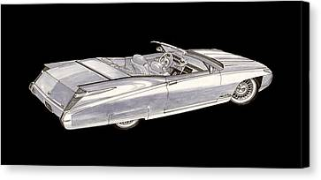 Cadillac Roadster Concept Canvas Print by Jack Pumphrey