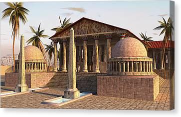 Caesareum Temple Ancient Alexandria Canvas Print by Don Dixon
