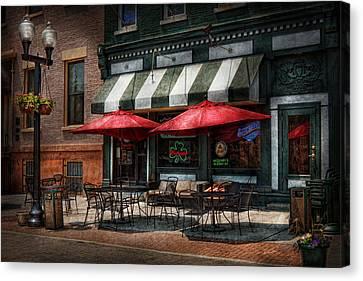 Cafe - Albany Ny - Mc Geary's Pub Canvas Print by Mike Savad