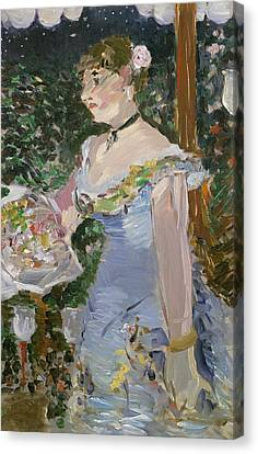 Cafe Concert Singer  Canvas Print by Edouard Manet