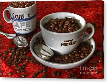 Cafe Nero Canvas Print by Tracy  Hall