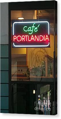 Cafe Portlandia Canvas Print by David Bearden