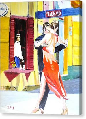 Cafe Tango Canvas Print by Judy Kay