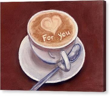 Caffe Latte Canvas Print by Anastasiya Malakhova