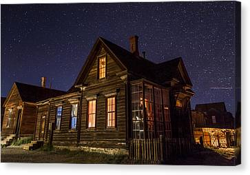 Cain House At Night Canvas Print by Cat Connor